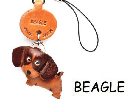 BEAGLE LEATHER CELLULARPHONE CHARM VANCA