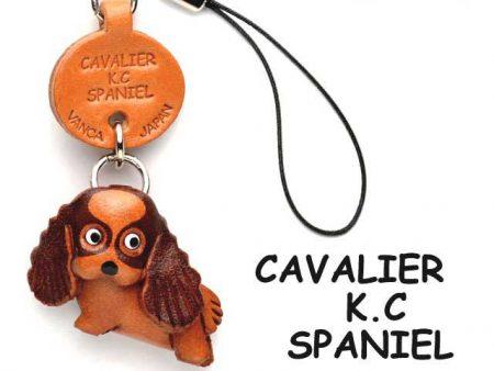 CAVALIER K.C.SPANIEL LEATHER CELLULARPHONE CHARM VANCA
