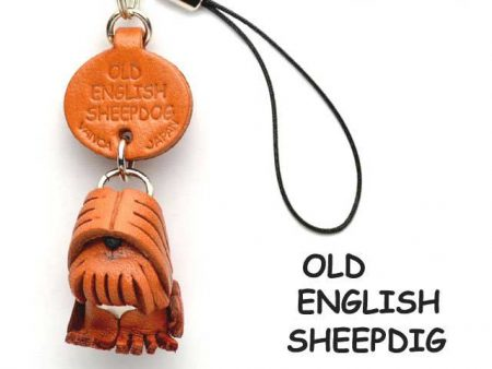 OLD ENGLISH SHEEPDOG LEATHER CELLULARPHONE CHARM VANCA