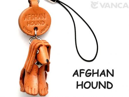 AFGHAN HOUND LEATHER CELLULARPHONE CHARM VANCA