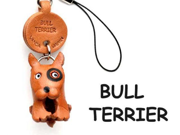 BULL TERRIER LEATHER DOG CELLULARPHONE CHARM VANCA