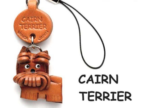 CAIRN TERRIER LEATHER CELLULARPHONE CHARM VANCA