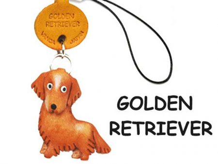 GOLDEN RETRIEVER LEATHER CELLULARPHONE CHARM VANCA
