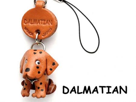 DALMATIAN LEATHER CELLULARPHONE CHARM VANCA