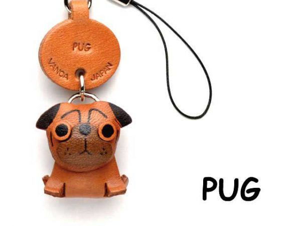 PUG JAPANESE LEATHER CELLULARPHONE CHARM VANCA