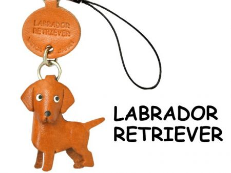LABRADOR RETRIEVER LEATHER CELLULARPHONE CHARM VANCA