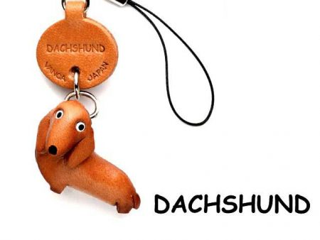 DACHSHUND LEATHER CELLULARPHONE CHARM VANCA