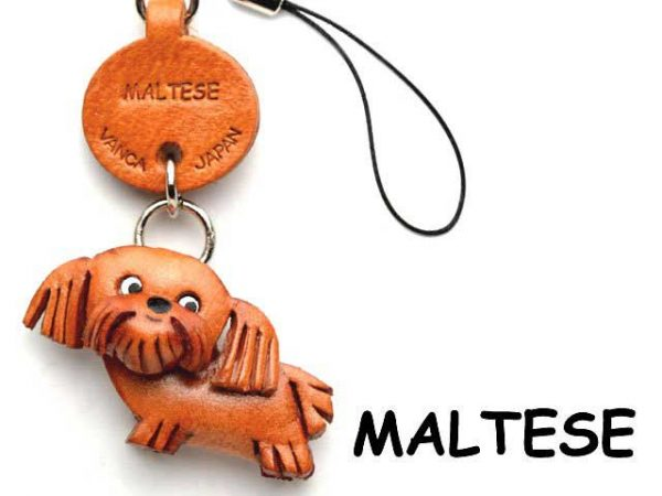 MALTESE LEATHER CELLULARPHONE CHARM VANCA