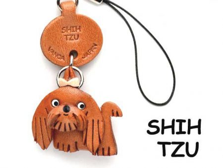 SHIH TZU LEATHER CELLULARPHONE CHARM VANCA