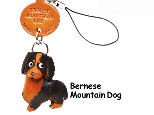 BERNESE MOUNTAIN DOG LEATHER CELLULARPHONE CHARM VANCA