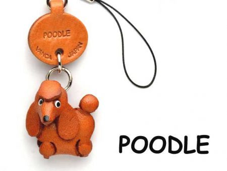 POODLE LEATHER CELLULARPHONE CHARM VANCA