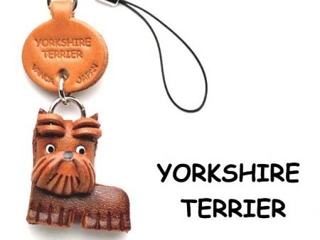 YORKSHIRE TERRIER LEATHER CELLULARPHONE CHARM VANCA