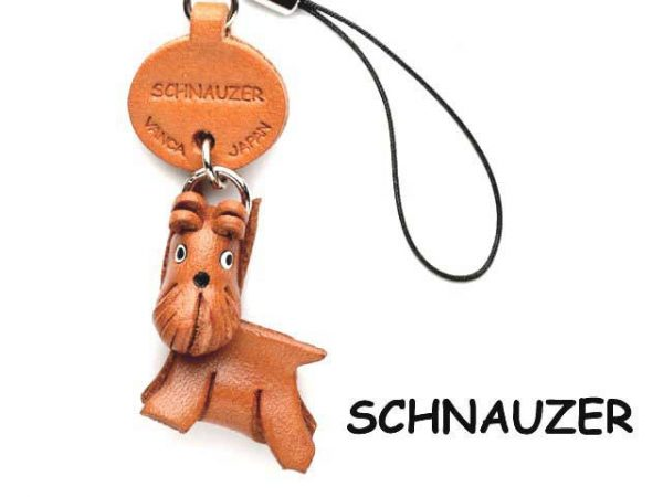 SCHNAUZER LEATHER CELLULARPHONE CHARM VANCA