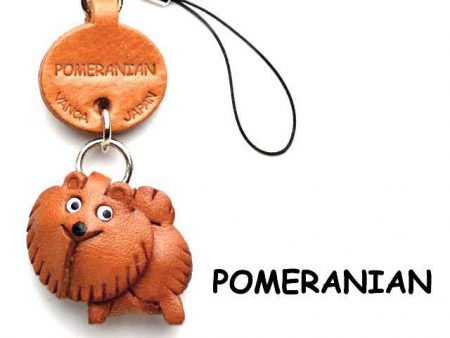 POMERANIAN LEATHER CELLULARPHONE CHARM VANCA