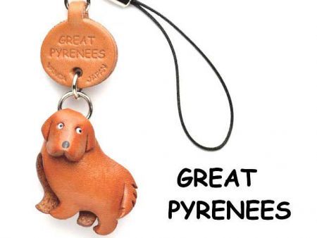 GREAT PYRENEES LEATHER CELLULARPHONE CHARM VANCA
