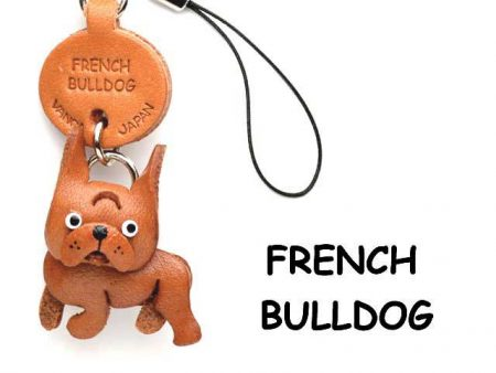 FRENCH BULLDOG LEATHER CELLULARPHONE CHARM VANCA
