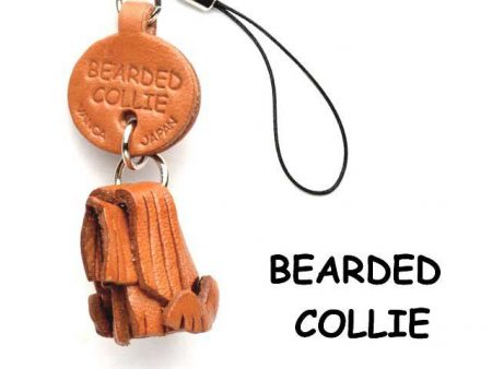 BEARDED COLLIE LEATHER CELLULARPHONE CHARM VANCA