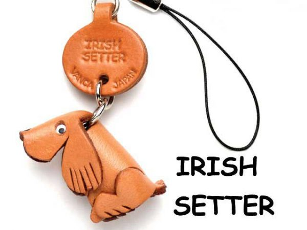 IRISH SETTER LEATHER CELLULARPHONE CHARM VANCA