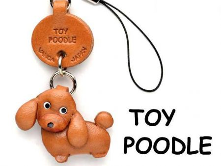 TOY POODLE LEATHER CELLULARPHONE CHARM VANCA