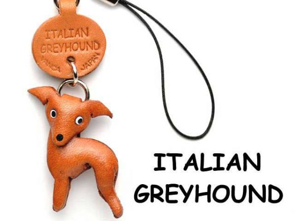 ITALIAN GREYHOUND LEATHER CELLULARPHONE CHARM VANCA