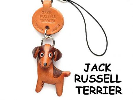 JACK RUSSELL TERRIER LEATHER CELLULARPHONE CHARM VANCA