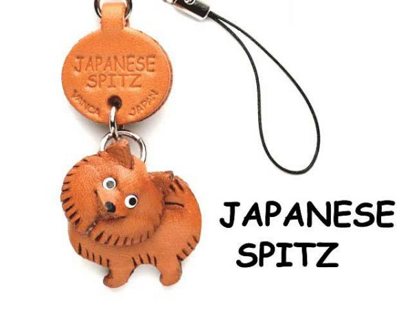 JAPANESE SPITZ LEATHER CELLULARPHONE CHARM VANCA