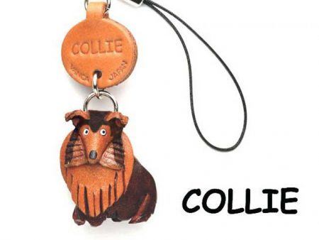 COLLIE LEATHER CELLULARPHONE CHARM VANCA