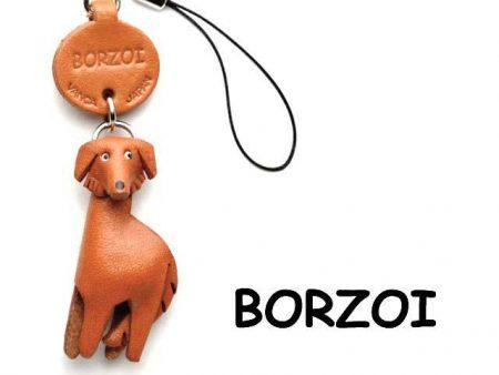 BORZOI LEATHER CELLULARPHONE CHARM VANCA