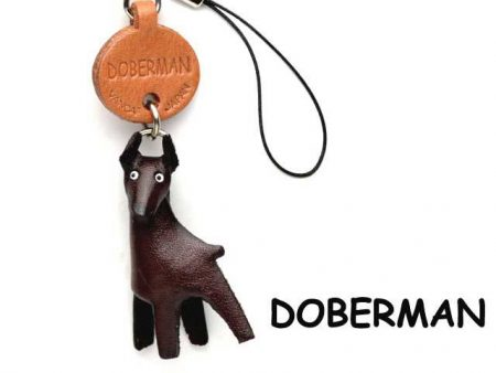 DOBERMAN LEATHER CELLULARPHONE CHARM VANCA