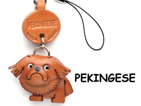 PEKINIGESE LEATHER CELLULARPHONE CHARM VANCA