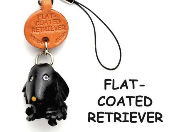 FLATCOATED RETRIEVER LEATHER CELLULARPHONE CHARM VANCA