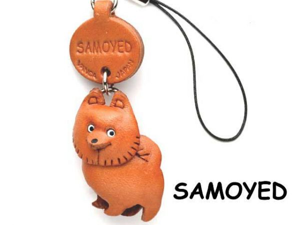 SAMOYED LEATHER CELLULARPHONE CHARM VANCA