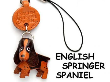 ENGLISH SPRINGER LEATHER CELLULARPHONE CHARM VANCA