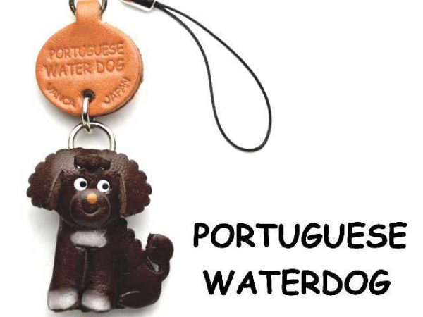 PORTUGUESE WATER DOG LEATHER CELLULARPHONE CHARM VANCA