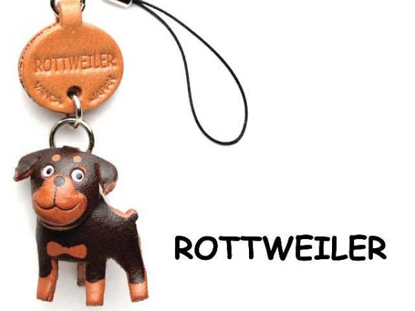 ROTTWEILER LEATHER CELLULARPHONE CHARM VANCA