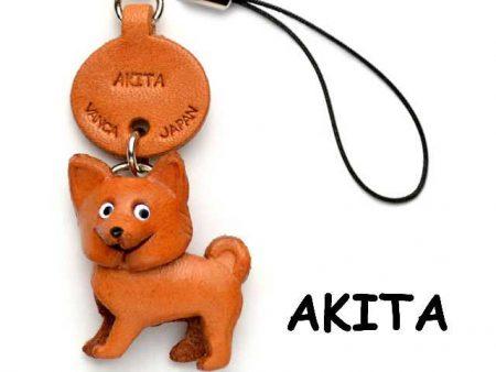 AKITA DOG LEATHER CELLULARPHONE CHARM VANCA