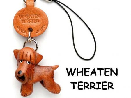 WHEATEN TERRIER LEATHER DOG CELLULARPHONE CHARM VANCA