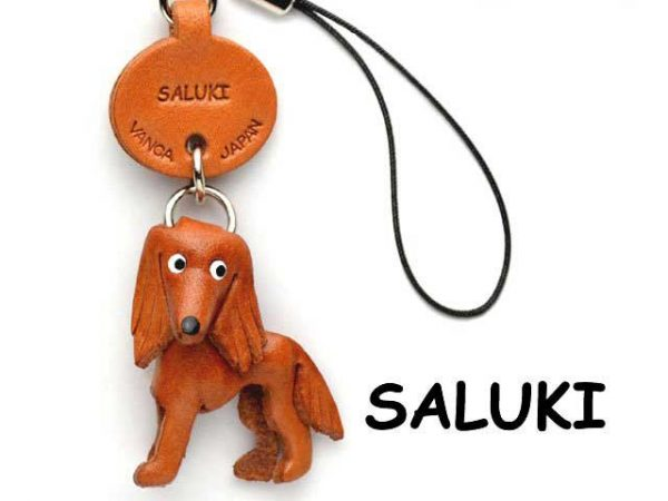 SALUKI LEATHER DOG CELLULARPHONE CHARM VANCA