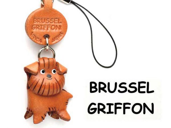 BRUSSELS GRIFFON LEATHER CELLULARPHONE CHARM VANCA