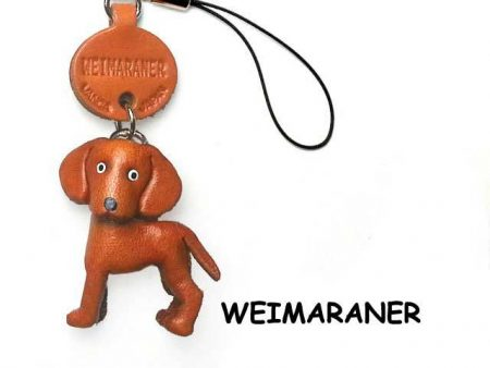 WEIMARANER TERRIER LEATHER CELLULARPHONE CHARM VANCA