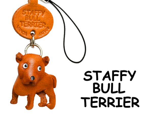 STAFFORDSHIRE BULLTERRIER LEATHER CELLULARPHONE CHARM VANCA
