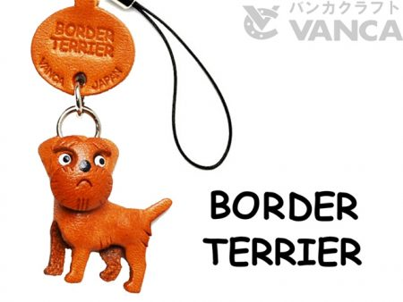 BORDER TERRIER LEATHER CELLULARPHONE CHARM VANCA