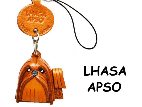 LHASA APSO LEATHER CELLULARPHONE CHARM VANCA