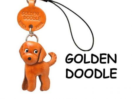 GOLDENDOODLE JAPANESE LEATHER CELLULARPHONE CHARM VANCA