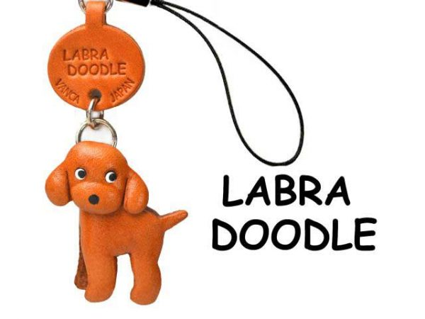 LABRADOODLE JAPANESE LEATHER CELLULARPHONE CHARM VANCA