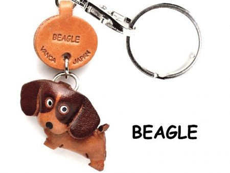 BEAGLE LEATHER DOG KEYCHAIN VANCA