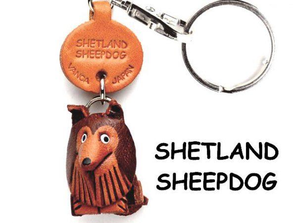 SHETLAND SHEEPDOG LEATHER DOG KEYCHAIN VANCA