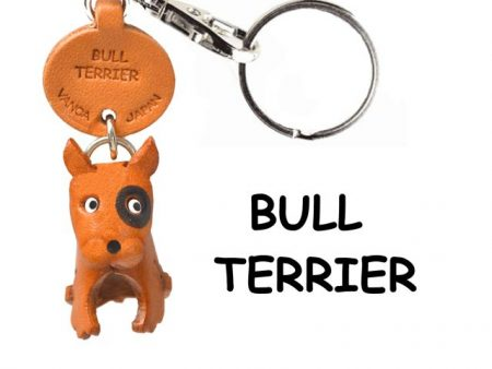BULL TERRIER LEATHER DOG KEYCHAIN VANCA