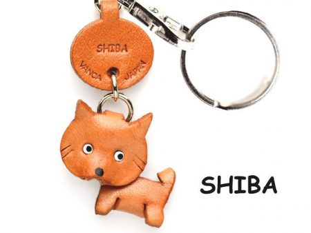 SHIBA DOG LEATHER DOG KEYCHAIN VANCA