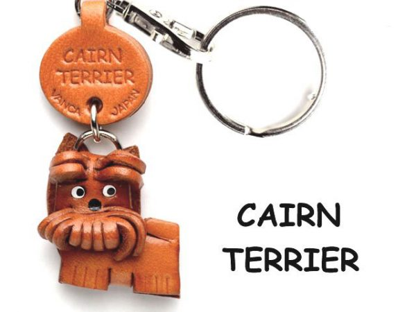 CAIRN TERRIER LEATHER DOG KEYCHAIN VANCA